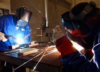 Airmen and local nationals practice tungsten inert gas and oxyacetylene welding June 4 at Kadena Air Base, Japan. This is a type of trade skill school for members of the military.
