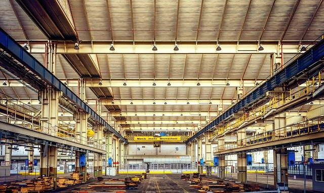 Photo of an empty factory. Companies may have a hard time replenishing a decimated workforce.